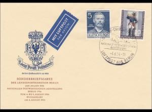FDC Luftpost aus Berlin Ausstellung 1954