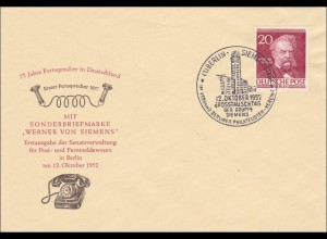 FDC Grosstauschtag 1952 - Werner von Siemens