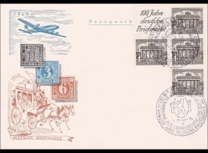 1949: 100 Jahre deutsche Briefmarken Wilmersdorf Jubiläum