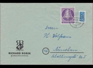 Brief von Braunschweig nach München 1953