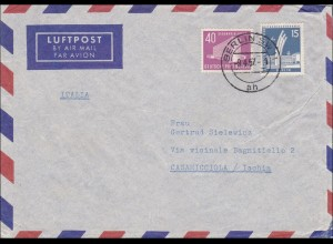 Luftpost Brief Berlin 1957 nach Ischia