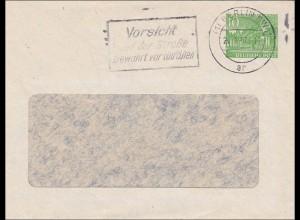 Ganzsachen Umschlag 1957 - Werbestempel Vorsicht vor Unfällen
