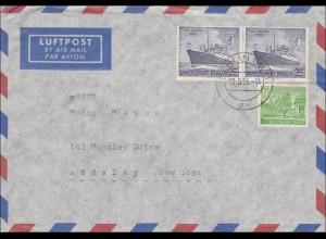 Luftpost Brief von Berlin nach USA 1955