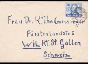 Brief 1949 von Berlin in die Schweiz