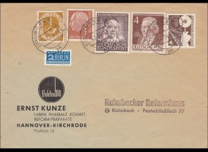 Brief von Nürnberg nach Kulmbach 1954