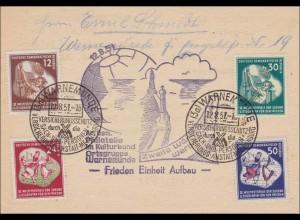 Warnemünde-Versicherungsschutz - Werbeschau - Arbeitsgruppe Philatelie 1951