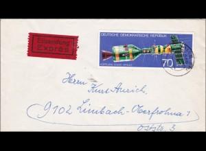 DDR: Eilbotenbrief Halle 1975 nach Limbach