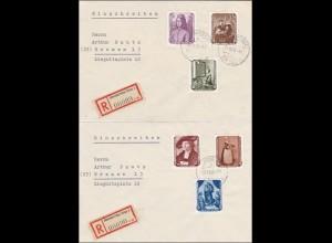 DDR: 2x Eubscgreubeb Johnsdorf über Zittau 1956 nach Bremen