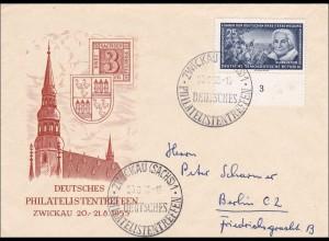 DDR: Brief aus Zwickau Philatelistentreffen 1955