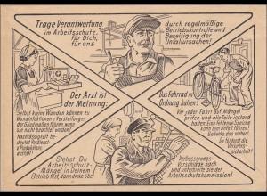Brief Arbeitschutz-Verkehrserziehung Dresden nach Leipzig 1958, Rückseite