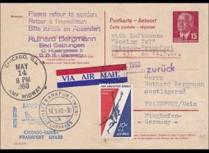 1960 von Bad Salzungen nach Frankfurt Main-Lufthansa Flug USA und zurück