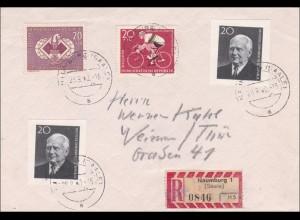 DDR: 1960 Einschreiben von Maumburg Saale nach Weimar