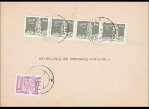 DDR: Antwortpostkarte als Postsache Jena