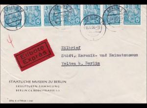 1956: Eilbote von Berlin nach Velten - Staatliche Messen - Skulpturen Sammlung
