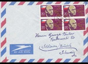 DDR: 1974: Luftpostbrief aus Berlin nach Zürich
