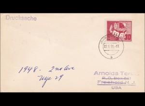 DDR: 1951: Drucksache Brief nach USA