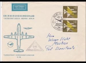 DDR: 1960: Luftpost Liniendienst Berlin-Moskau-Berlin