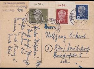 DDR: 1950: Ansichtskarte Berliner Dom - Eckrand Marken