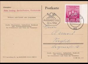 """DDR: 1956: Postkarte FDC, Berlin- """"Kleine Fälschung"""""""