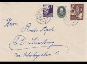 DDR: Brief aus Werdau nach Lüneburg