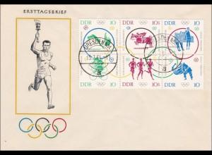 DDR: 1964: FDC Dresden - Olympiade