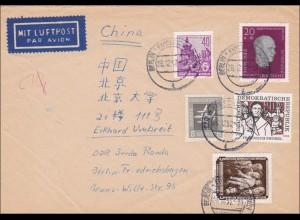 DDR: 1957: Brief aus Berlin-Friedrichshagen nach China