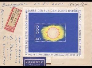 DDR: 1966: Einschreiben - Luftpost von Leipig nach Argentinien