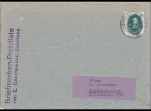 DDR: 1958: Brief aus Berlin nach Wilhelmshaven