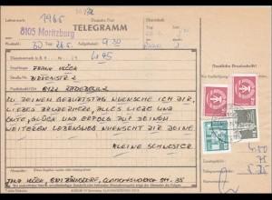 DDR: 1982: TELEGRAMM von Moritzburg nach Radebeul