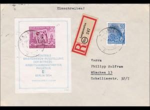 DDR: 1955: Einschreiben von Langensalza nach München