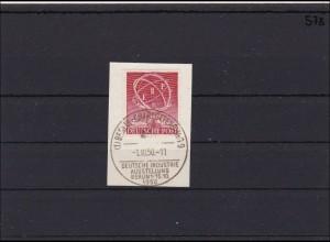 Berlin MiNr. 71, gestempelt Ersttags-Sonderstempel auf Briefstück