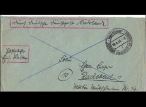 Postschutz - Durch Deutsche Dienstpost Niederlande - Postsache Einsatz Westen
