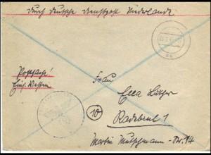 Durch Deutsche Dienstpost Niederlande - Postsache Einsatz Westen - Postschutz