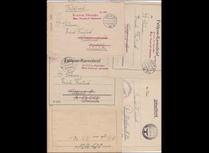 FP Kartenbriefe des SS-Postschutz Sturmmannes (Feldpost Nr. 56552) Erich Freund