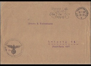 Briefumschlag der Postschutzschule Hirschberg/Riesengebirge