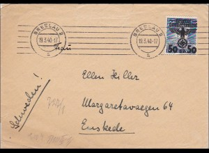 Generalgouvernement (GG) Brief nach Schweden, portogerecht mit Zensur