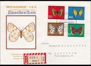 Ersttagsbrief FDC 1962 Wohlfahrtsmarken als R-Brief