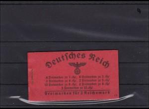 Deusches Reich, MiNr. Markenheftchen MH 39.3 **